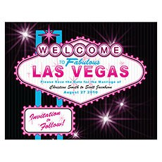 Las Vegas Save The Date Card