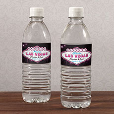 Las Vegas Water Bottle Label
