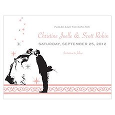 Vintage Hollywood Save The Date Card