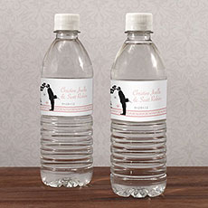 Vintage Hollywood Water Bottle Label