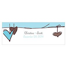 Heart Strings Small Rectangular Tag