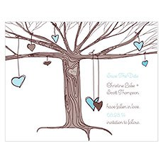 Heart Strings Save The Date Card