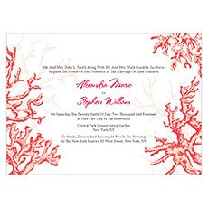 Reef Coral Invitation
