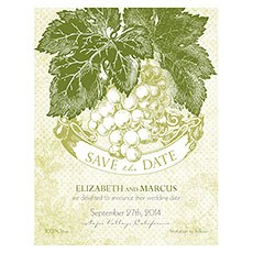 A Wine Romance Save The Date Card