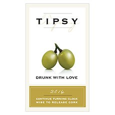 Tipsy Rectangular Sticker