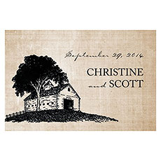 Rustic Country Large Rectangular Tag