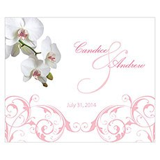 Classic Orchid Rectangular Label