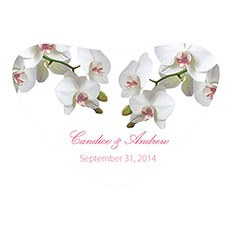 Classic Orchid Heart Container Sticker