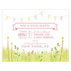 Homespun Charm Save The Date Card