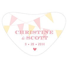 Homespun Charm Heart Container Sticker