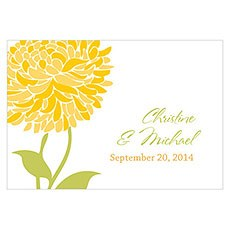 Zinnia Bloom Large Rectangular Tag
