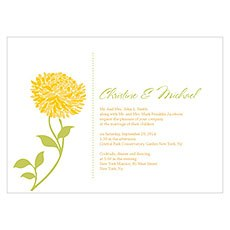 Zinnia Bloom Invitation