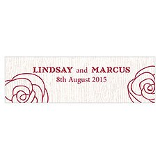 Rose Small Rectangular Tag