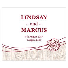 Rose Rectangular Label