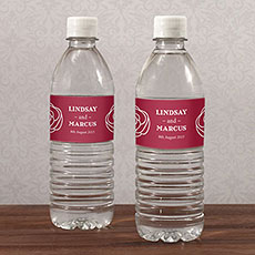 Rose Water Bottle Label