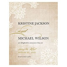 Vintage Lace Save The Date Card