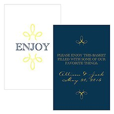 """Enjoy"" ""Thank you"" Rectangular Card"
