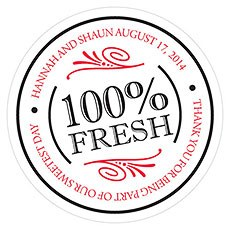 100% Fresh Small Sticker