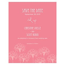 Dandelion Wishes Save The Date Card