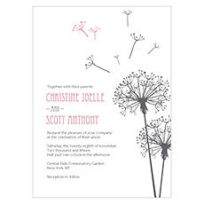 Dandelion Wishes Invitation