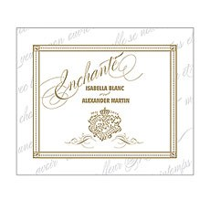 Parisian Love Letter Rectangular Label