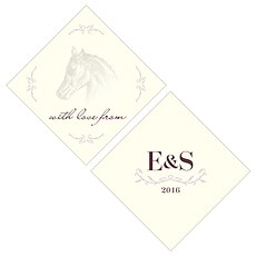 Equestrian Love Square Tag