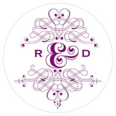 Fanciful Monogram Small Sticker