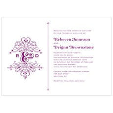 Fanciful Monogram Invitation