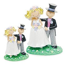 Comical Bride & Groom Figurine