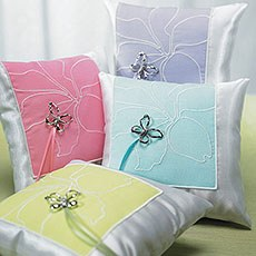 Butterfly Dreams Square Ring Pillow
