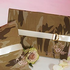 Discerning Camouflage Traditional Guest Book