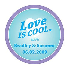 """Love is Cool"" Stickers"