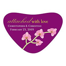 Mini Orchid Heart Container Stickers