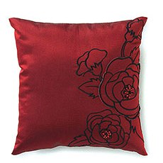 Silhouettes In Bloom Square Ring Pillow