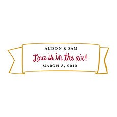 Love is In the Air Small Banner Sticker