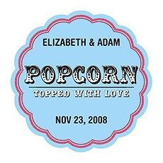 Popcorn - Topped with Love Sticker