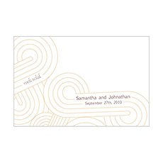 Rock Solid Place Cards - double sided print