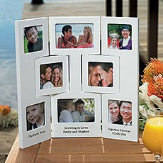 """Our Story"" Multiple Opening Photo Frame - Table Top - 3 Panel"