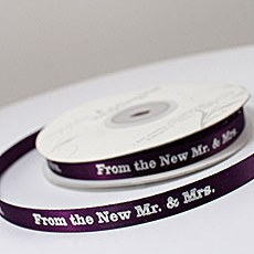 """From the New Mr. & Mrs."" Ribbon"