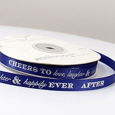 """Cheers to Love, Laughter, and Happily Ever After"" Ribbon"
