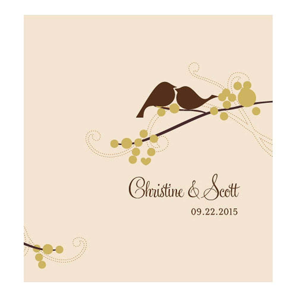 Love Bird Personalized Wedding Candy Roll Wrap