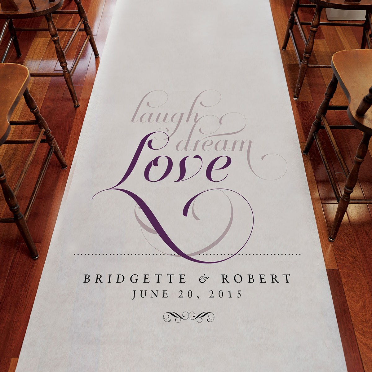 Expressions Personalized Wedding Aisle Runner