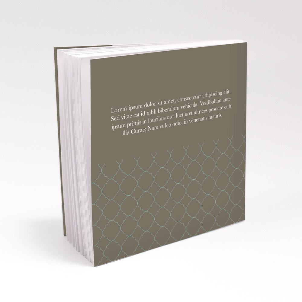 Classic Crest Personalized Book Style Wedding Favor Notepad