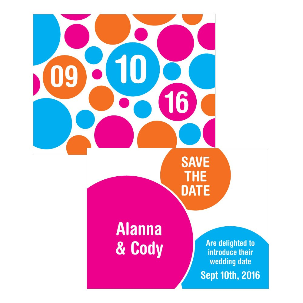 Retro Pop Wedding Save The Date Card