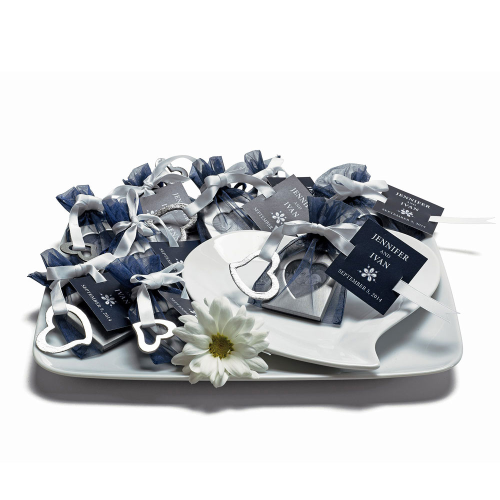 Small Sheer Rectangular Wedding Favor Organza Bags