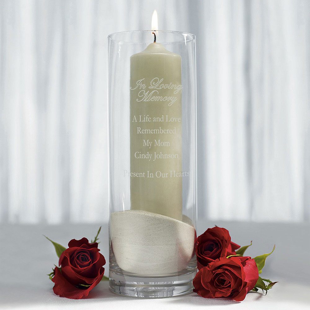 glass memorial vase ceremony accessories