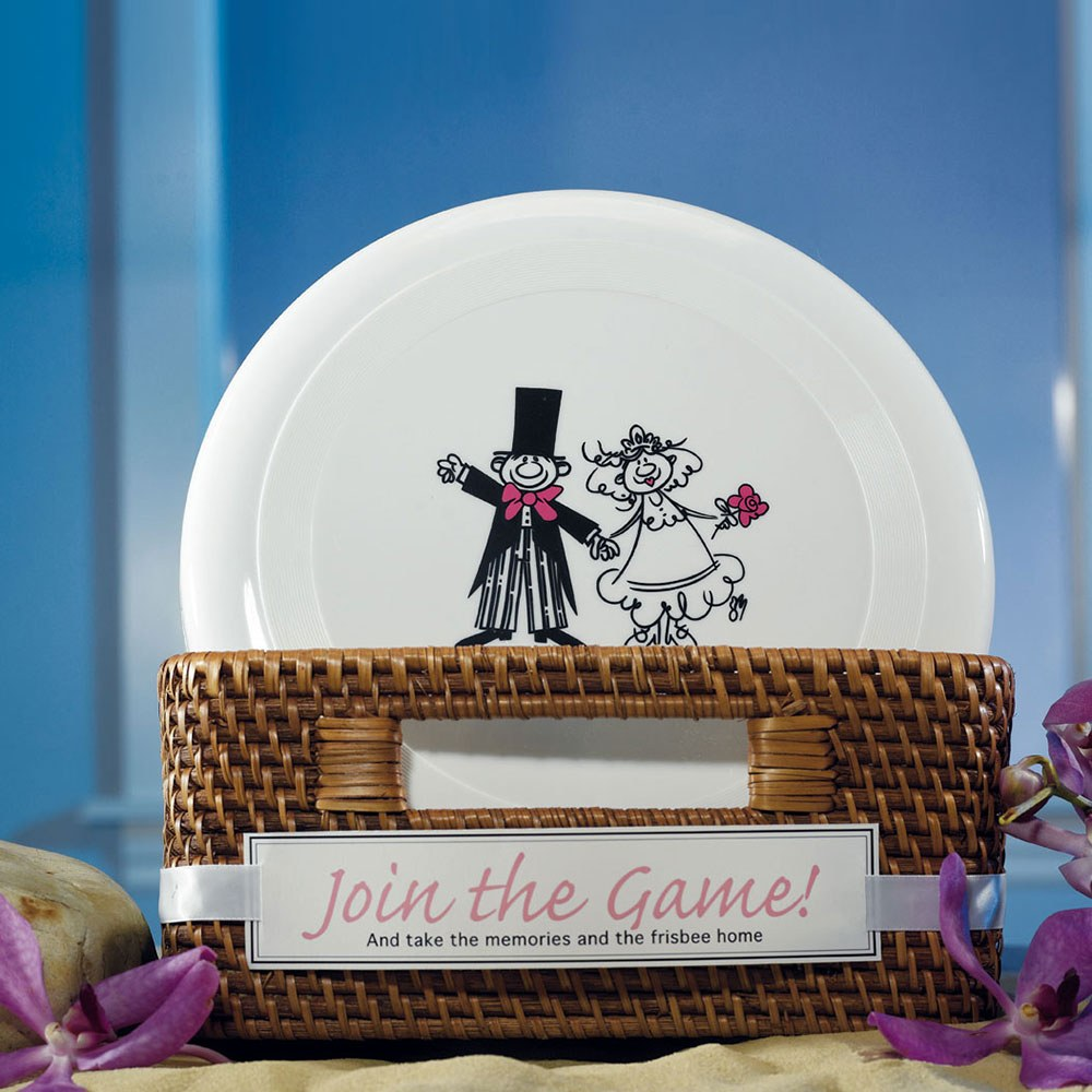 Bride and Groom Wedding Favor Frisbee