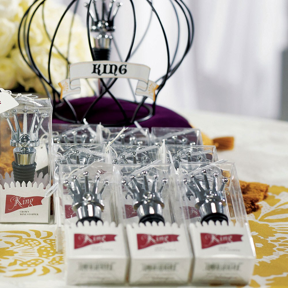 King Crown Wine Bottle Stopper Wedding Favor