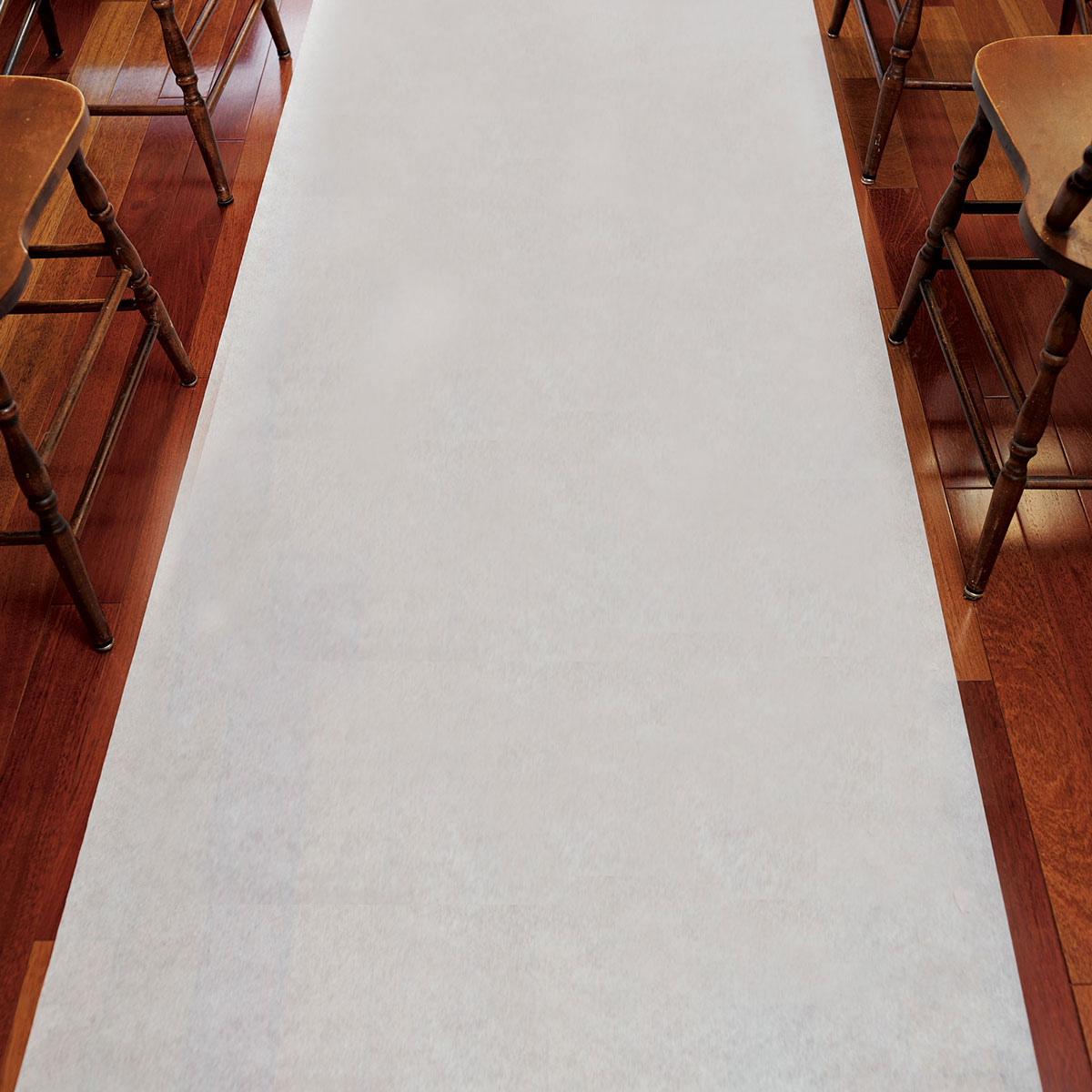 Fabric Wedding Aisle Runner in Plain White